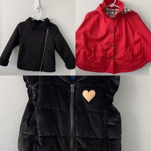 Toddler Lot - Jackets/Vest/Rain Coat